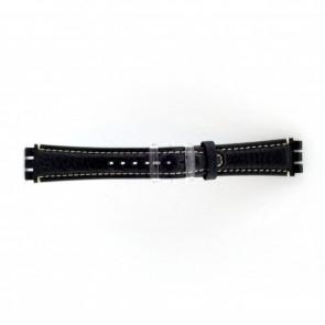 Uhrenarmband schwarz für Swatch dunkelblau/ grau 19mm ES- 3.05