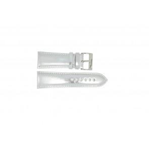 Uhrenarmband Universal 369.31 Leder Grau 30mm